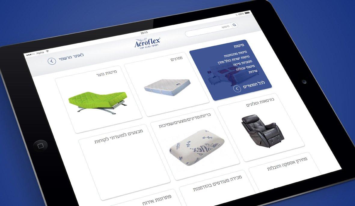 עיצוב אתר מחירון אירופלקס - דף בית