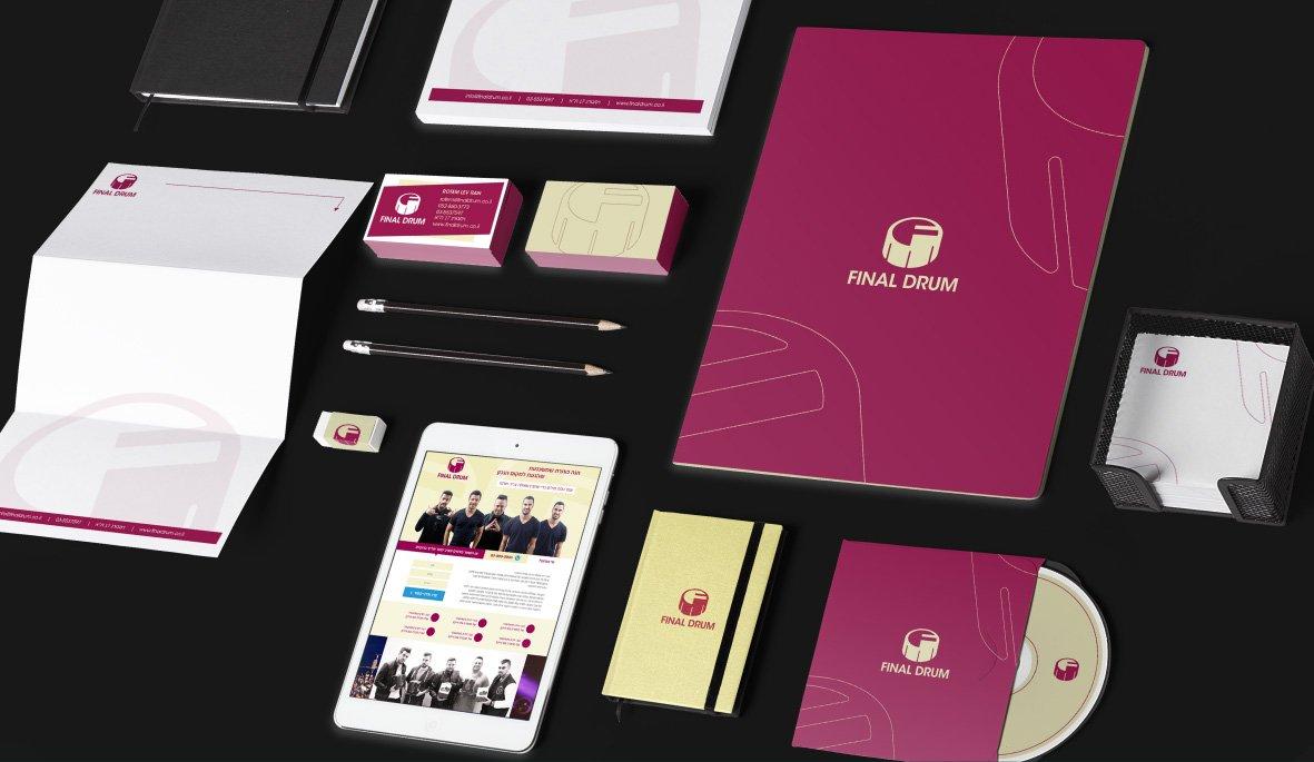 עיצוב ניירת עסקית לחברת הפקה ומוסיקה