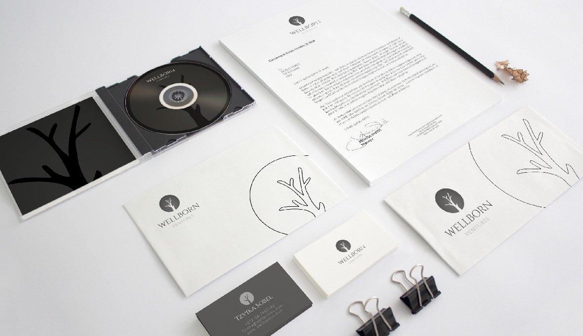 עיצוב ניירת משרדית עסקית עבור חברת השקעות