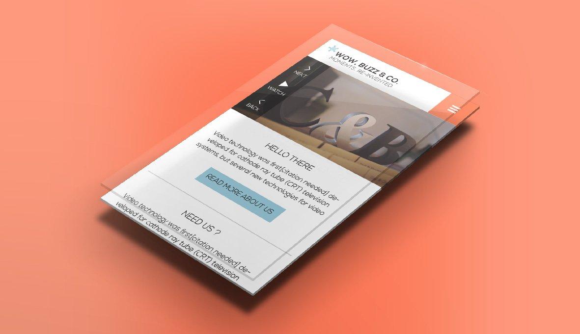 עיצוב אתר רספונסיבי תומך מובייל עבור חברת הפקת וידאו